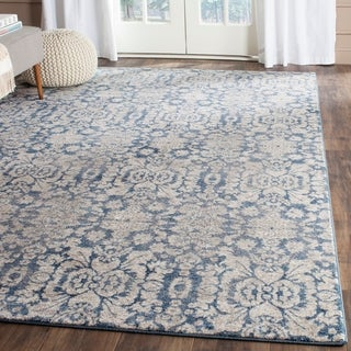 Safavieh Sofia Vintage Damask Blue/ Beige Distressed Rug (4' x 5'7)