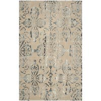 Safavieh Handmade Dip Dye Watercolor Vintage Camel/ Grey Wool Rug (8' x 10')