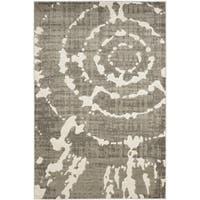 Safavieh Porcello Abstract Contemporary Grey/ Ivory Rug - 4'1 x 6'