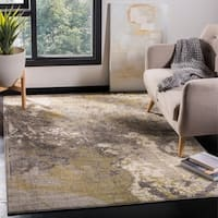 Safavieh Monaco Modern Abstract Ivory / Grey Distressed Rug - 6'7 x 9'2