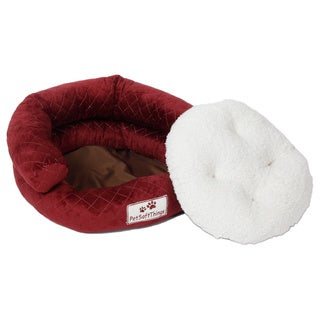 Pet Soft Things Rounded Microplush Applique Quilted Pet Bed (More options available)