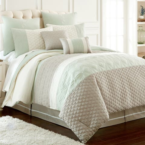 Modern Threads Palisades Embroidered 8-Piece Comforter Set