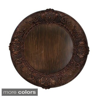 14-inch Embossed Charger Plate (Option: Copper)
