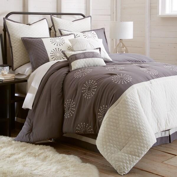 Amraupur Overseas Vida Embroidered 8-Piece Comforter Set