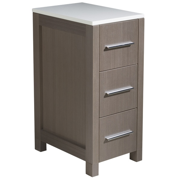 bathroom linen side cabinet shop fresca torino 12 inch grey oak bathroom linen side 11538