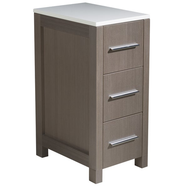 12 inch bathroom cabinet shop fresca torino 12 inch grey oak bathroom linen side 10023