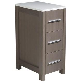 Fresca Torino 12-inch Grey Oak Bathroom Linen Side Cabinet