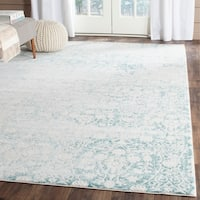 Safavieh Passion Vintage Wash Turquoise/ Ivory Distressed Rug - 4' x 5'7