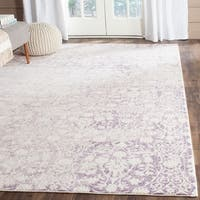 Safavieh Passion Watercolor Vintage Lavender/ Ivory Distressed Rug - 4' x 5'7""