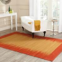 Safavieh Hand-Woven Kilim Rust Wool Rug (6' x 9')
