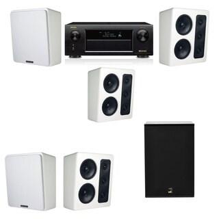 M&K Sound MP300 White Monitor Speaker 5.1 X12 Denon AVR-X5200W