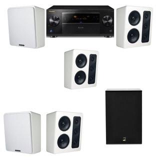 M&K Sound MP300 White Monitor Speaker 5.1 X12 Pioneer Elite SC-89