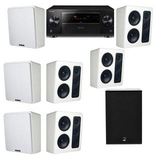 M&K Sound MP300 White Monitor Speaker 7.1 X12 Pioneer Elite SC-89