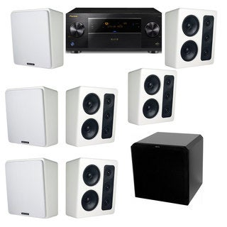 M&K Sound MP300 White Monitor Speaker 7.1 HRS12 Pioneer Elite SC-89