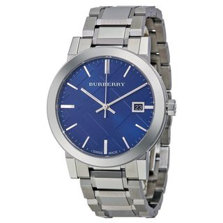 Burberry Men's BU9031 'Large Check' Stainless Steel Watch