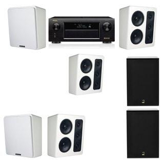 M&K Sound MP300 White Monitor Speaker 5.2 X12 Denon AVR-X5200W