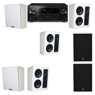 M&K Sound MP300 White Monitor Speaker 5.2 X12 Pioneer Elite SC-89