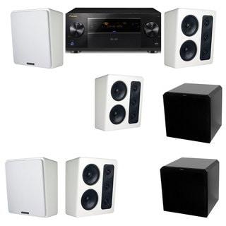 M&K Sound MP300 White Monitor Speaker 5.2 HRS12 Pioneer Elite SC-89