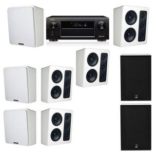 M&K Sound MP300 White Monitor Speaker 7.2 X12 Denon AVR-X5200W