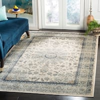 Safavieh Persian Garden Vintage Ivory/ Light Blue Distressed Silky Viscose Rug - 5'1 x 7'7