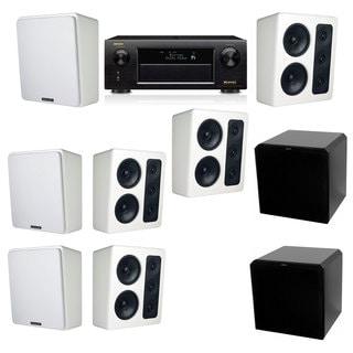 M&K Sound MP300 White Monitor Speaker 7.2 HRS12 Denon AVR-X5200W