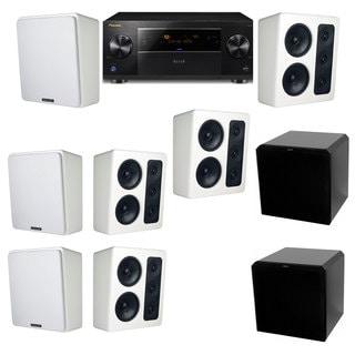 M&K Sound MP300 White Monitor Speaker 7.2 HRS12 Pioneer Elite SC-89