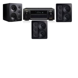 M&K Sound S300 Monitor Speaker 3.0 Denon AVR-X5200W