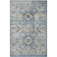 Safavieh Persian Garden Vintage Light Blue/ Ivory Distressed Silky Viscose Rug - 5'1 x 7'7