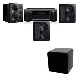 M&K Sound S300 Monitor Speaker 3.1 HRS12 Denon AVR-X5200W