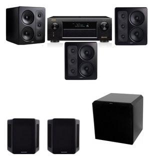 M&K Sound S300 Monitor Speaker 5.1 HRS12 Denon AVR-X5200W