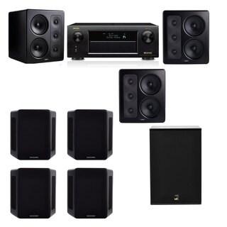 M&K Sound S300 Monitor Speaker 7.1 X12 Denon AVR-X5200W