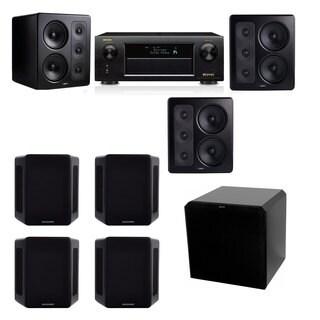 M&K Sound S300 Monitor Speaker 7.1 HRS12 Denon AVR-X5200W