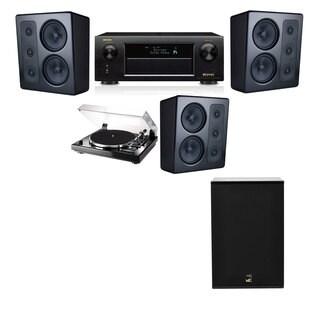 M&K Sound MP300 Monitor Speaker 3.1 Thorens TD-240-2 X12 Denon AVR-X5200W
