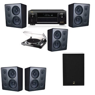 M&K Sound MP300 Monitor Speaker 5.1 Thorens TD-240-2 X12 Denon AVR-X5200W