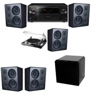 M&K Sound MP300 Monitor Speaker 5.1 Thorens TD-240-2 HRS12 Pioneer Elite SC-89