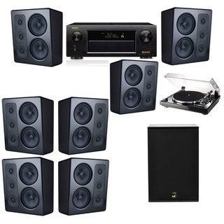 M&K Sound MP300 Monitor Speaker 7.1 Thorens TD-240-2 X12 Denon AVR-X5200W
