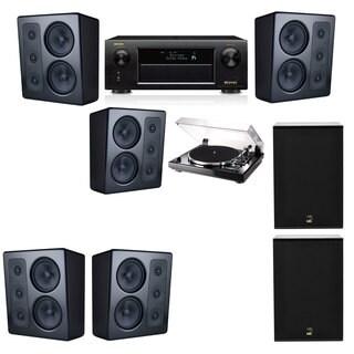 M&K Sound MP300 Monitor Speaker 5.2 Thorens TD-240-2 X12 Denon AVR-X5200W