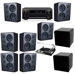 M&K Sound MP300 Monitor Speaker 7.2 Thorens TD-240-2 HRS12 Denon AVR-X5200W