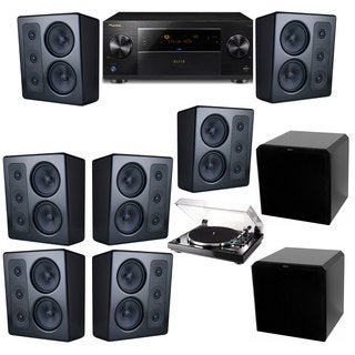 M&K Sound MP300 Monitor Speaker 7.2 Thorens TD-240-2 HRS12 Pioneer Elite SC-89
