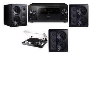 M&K Sound S300 Monitor Speaker 3.0 Thorens TD-240-2 Pioneer Elite SC-89