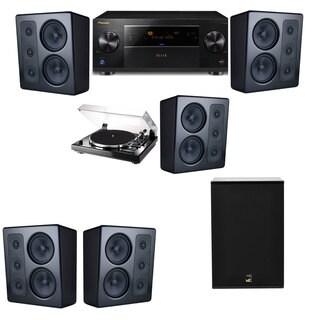 M&K Sound MP300 Monitor Speaker 5.1 Thorens TD-240-2 X12 Pioneer Elite SC-89