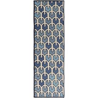 Hand-woven Brett Reversible Wool Rug (2'6 x 8')
