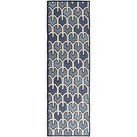 Hand-woven Brett Reversible Wool Area Rug (2'6 x 8')
