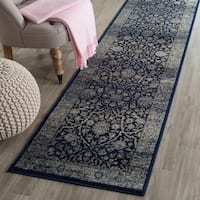 Safavieh Persian Garden Vintage Navy/ Light Blue Distressed Silky Viscose Rug - 5'1 x 7'7