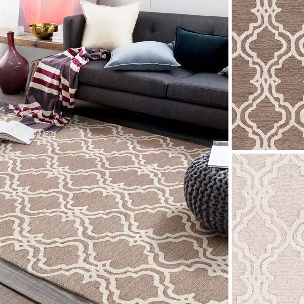 Micro-Looped Barking Moroccan Trellis Cotton Area Rug (2' x 3') - 2' x 3'