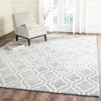 Safavieh Handmade Dip Dye Watercolor Vintage Grey/ Ivory Wool Rug - 8' x 10'