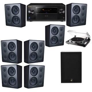 M&K Sound MP300 Monitor Speaker 7.1 Thorens TD-240-2 X12 Pioneer Elite SC-89