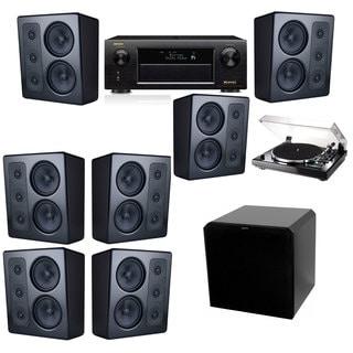 M&K Sound MP300 Monitor Speaker 7.1 Thorens TD-240-2 HRS12 Denon AVR-X5200W