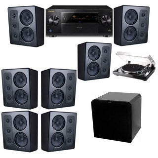 M&K Sound MP300 Monitor Speaker 7.1 Thorens TD-240-2 HRS12 Pioneer Elite SC-89