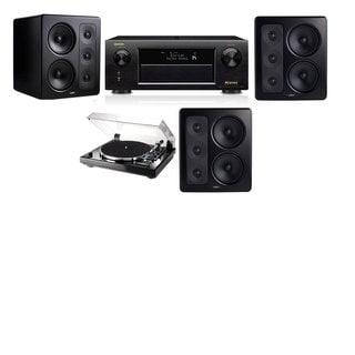 M&K Sound S300 Monitor Speaker 3.0 Thorens TD-240-2 Denon AVR-X5200W